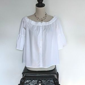 Abercrombie and Fitch off the shoulder crop